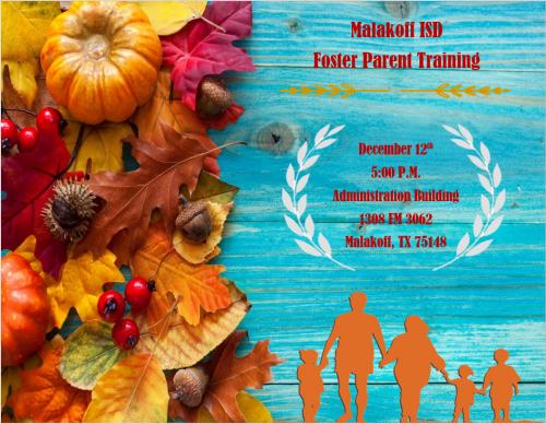 Foster Parent Training, Dec, 12th 5 pm