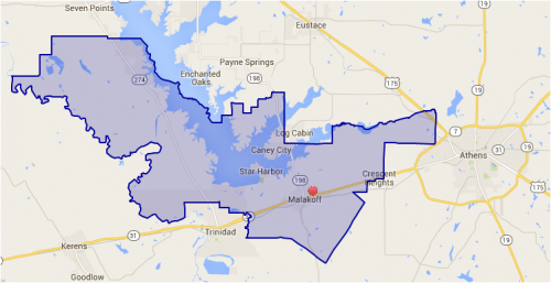 Map of MISD School District