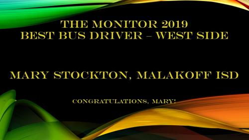 2019 Best Bus Driver West side