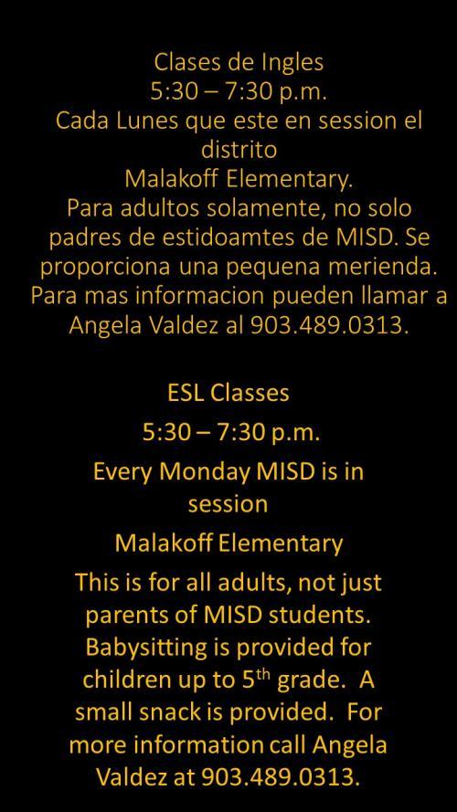 MISD offers ESL Classes