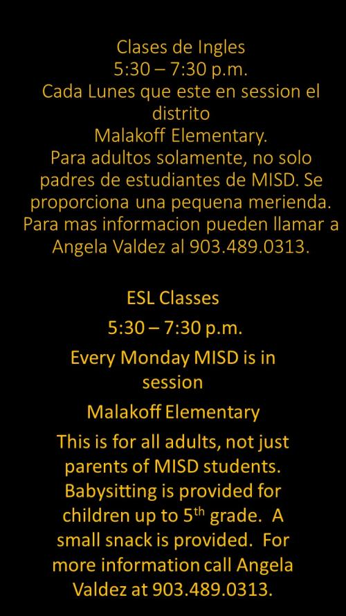 MISD offers ESL Classes