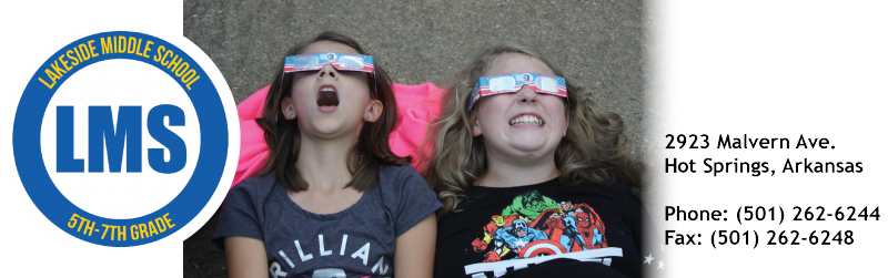LMS students watching the solar eclipse.