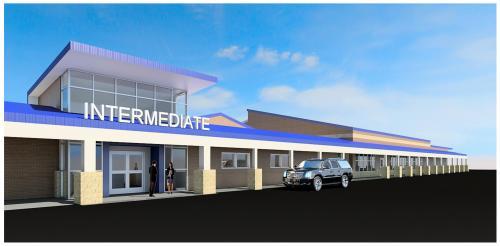 Intermediate entrance & cafeteria