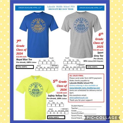 ASD tshirt order form