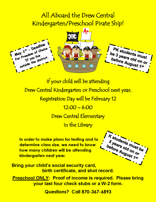 Kindergarten & PK Registration