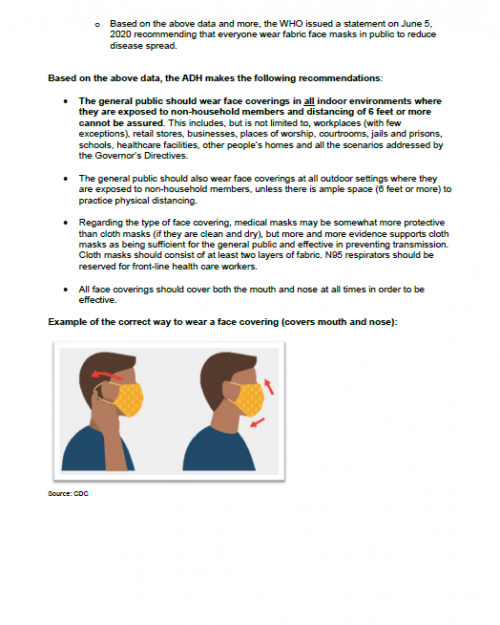 CDC Guidance on Mask
