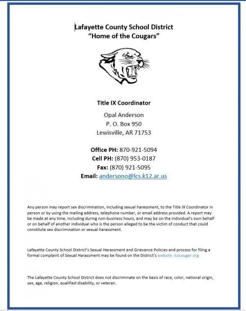 Title IX Flyer