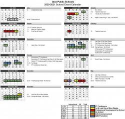 Alva Public Schools 2020-2021 Calendar