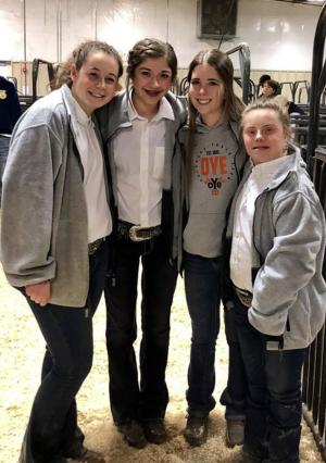 2019 Woodward District - Gretchen Kraft, Tara Owen, Karson Henke, Maddy Beiswanger