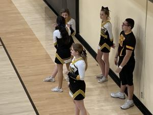 Cheering for the Ladybugs and Goldbugs vs Woodward - Feb. 12, 2019