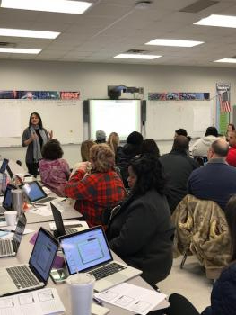 Professional Development Training for the Special Education Teachers conducted by the Special Education Supervisor, Pam Moore