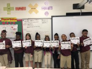 Students who scored Advanced and Mastery on the 1st Math District Common Assessment!