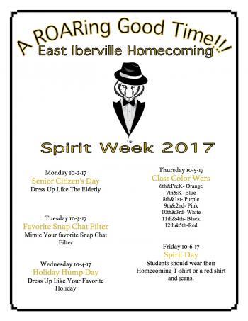 Homecoming Spirit Day Activities @ EI
