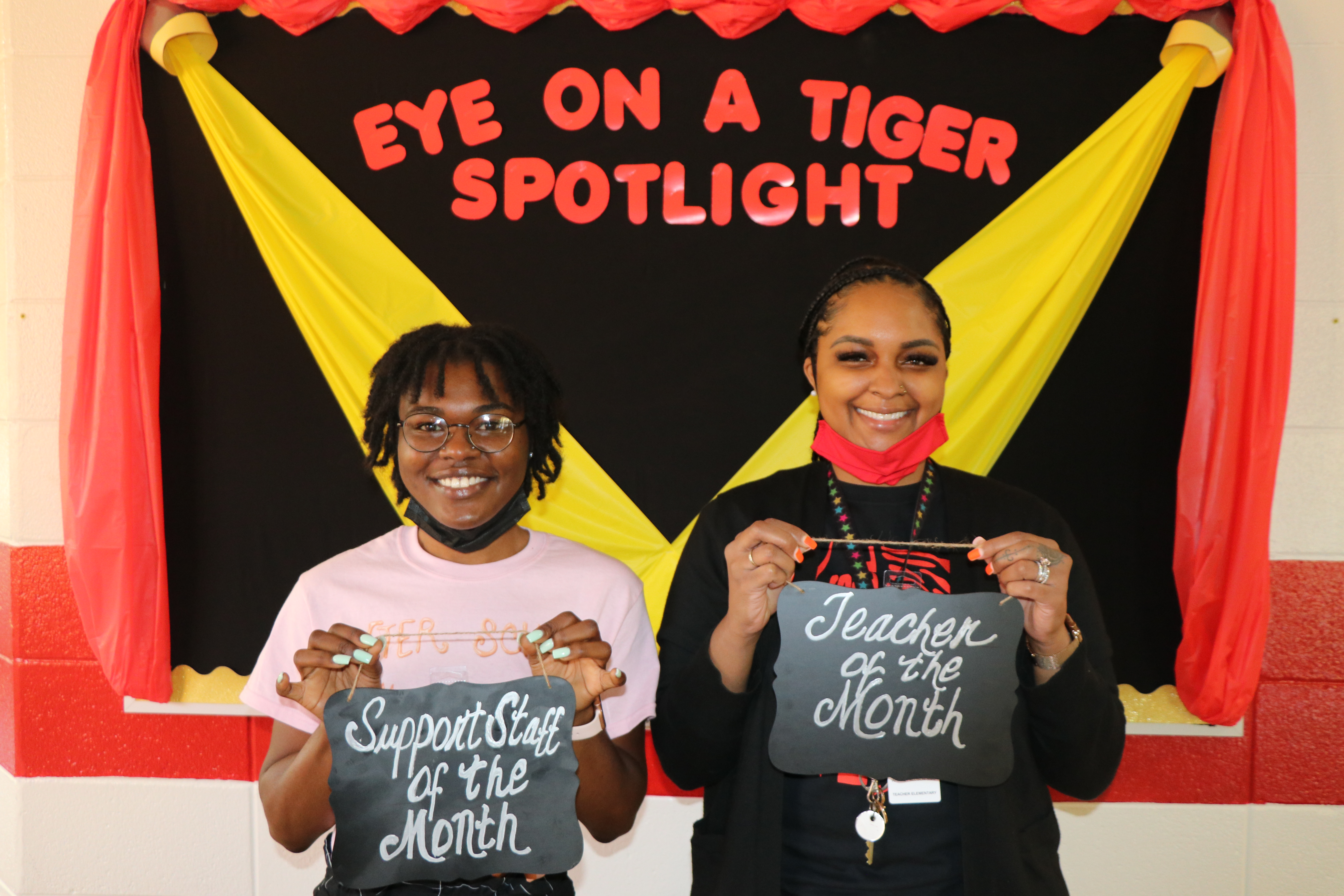 Support Staff of the Month: Kerriah Solomon & Teacher of the Month: Whitney Allison