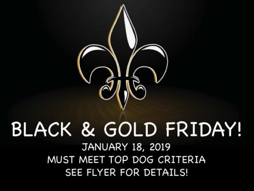 Black and Gold Friday January 18, 2019