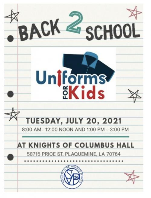 Information for free uniforms!