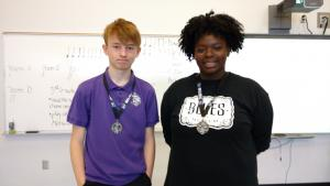 Talented Music Solo Piece Challenge Winners (2016-17)- Bryson O. and Mya S.