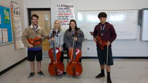 Talented Music Orchestral Part Challenge Winners (2016-17)- Ian K., Emily H., Lauren B., and Bryce B.