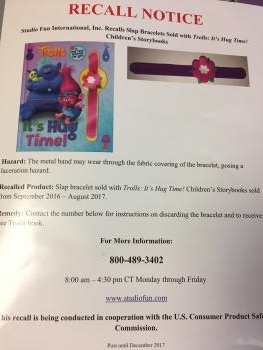 Recall Notice for Troll Book with Watch