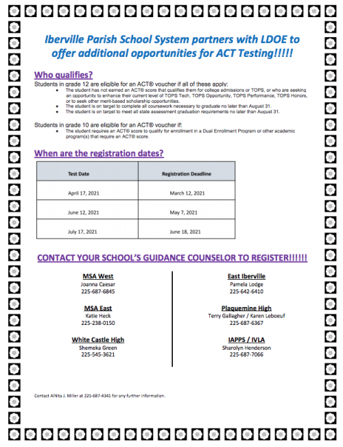 ACT Flyer 2021