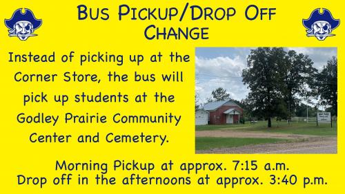 drop off pickup change