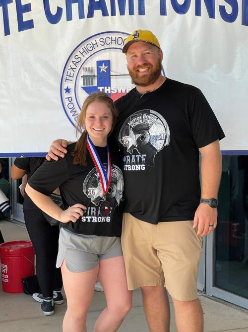 Kallie 3rd place Powerlifting State Meet