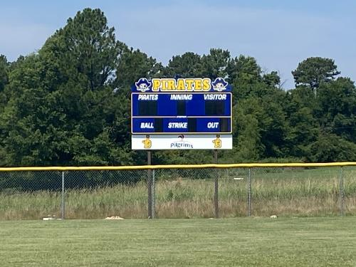 THANK YOU to Pilgrim's for donating the Softball and Baseball Scoreboards!  We appreciate it!!
