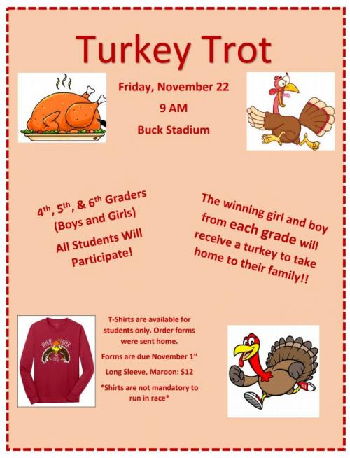 Turkey Trot Information November 22 at 9