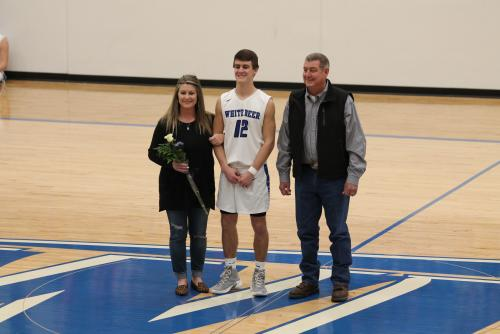 Gage Freeman and Parents Senior Night 2019