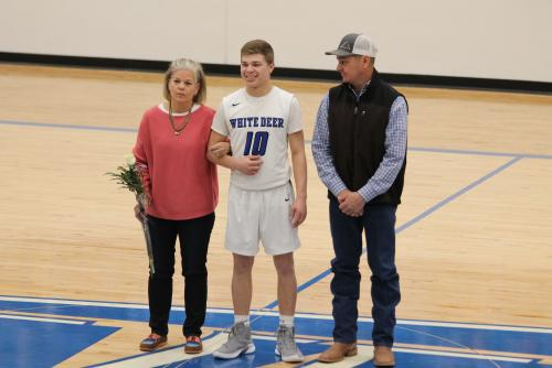 Kason Vigil and Parents Senior Night 2019