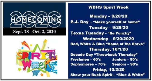 Spirit Week Dress up HS
