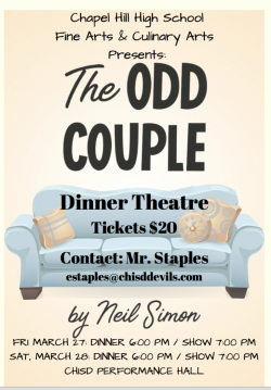 Thumbnail Image for Article The Odd Couple- Dinner Theatre