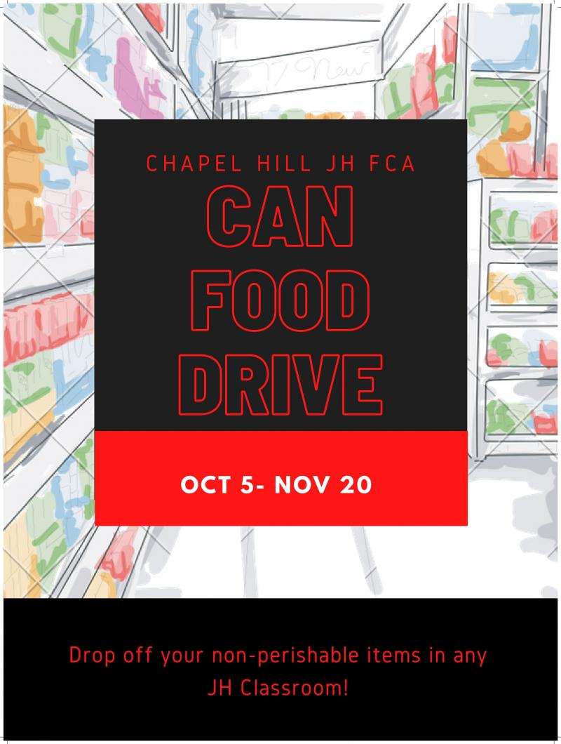 CHJH FCA Can Food Drive