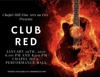 Club Red - Tuesday, January 19 6pm & 8pm