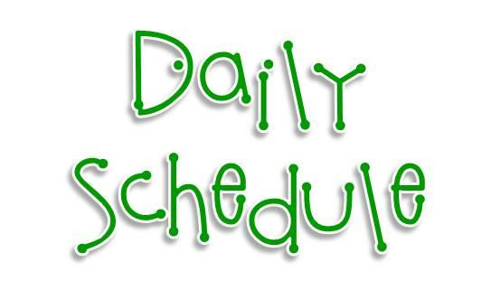Daily Schedule Examples