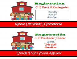 Pre-k and Kinder Registration