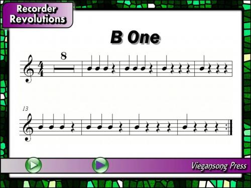 B One Sheet Music