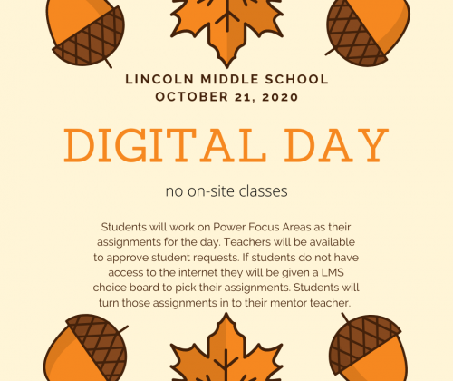 LMS Digital Day Wednesday October 21st 2020.