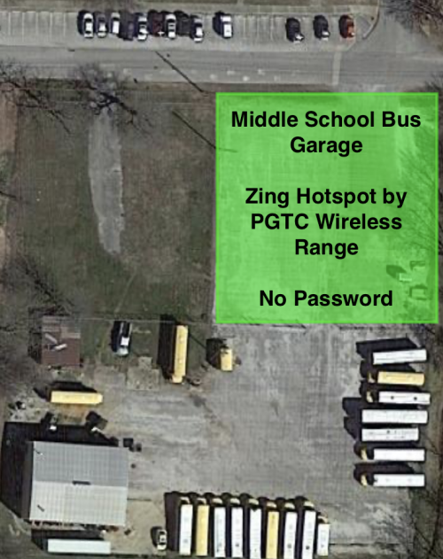 Lincoln Middle School Bus Garage