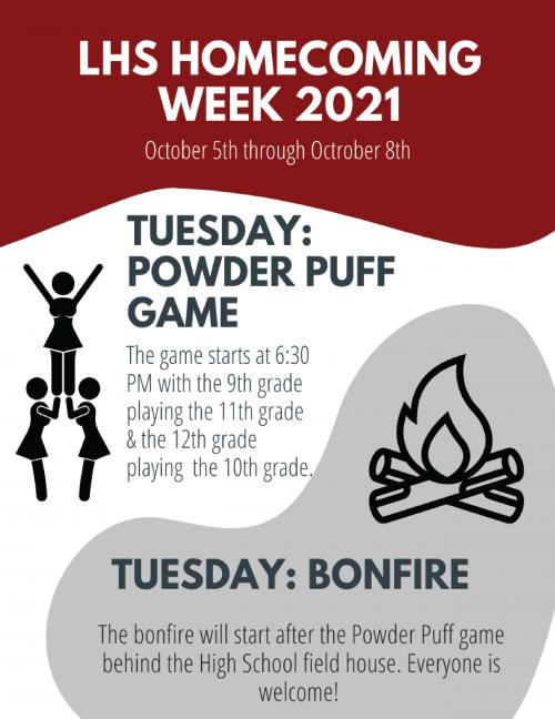 Homecoming week schedule flyer 1