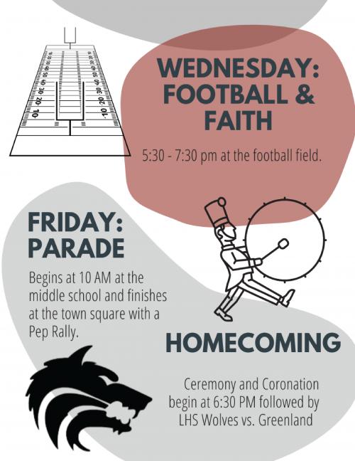 Homecoming week schedule flyer 2