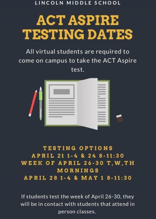 ACt Aspire Testing LMS Spring 2021