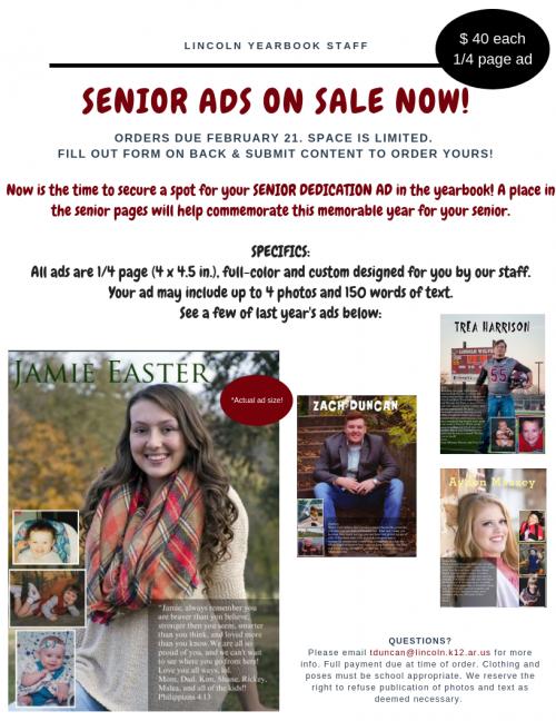 Senior Yearbook Ads Flyer