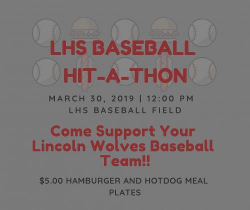 LHS Baseball Hit-A-Thon