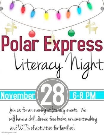 Polar Express Literacy Night Flyer