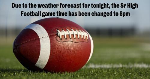 Football Game time change