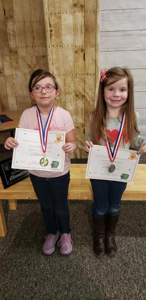 1st grade winners Mallory Karbowski Saige Courtney