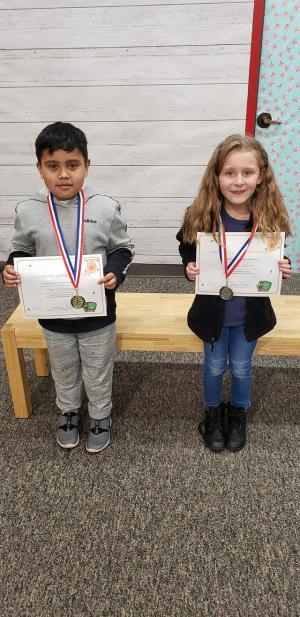 2nd grade winners Jose Carranza Addison Mann
