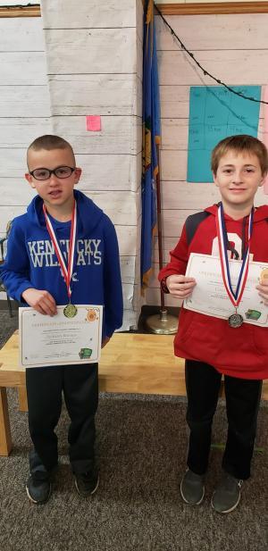 4th grade winners Jackson Barnes Case Collins