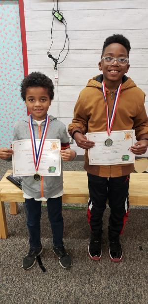 3rd grade winners Demetrius Olden Sterling Jordan